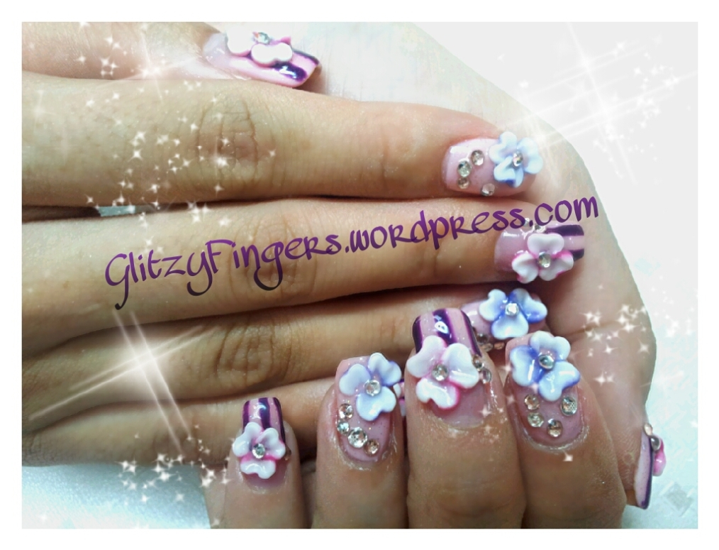Gelish + Manicure + Nail Art + Polish + Nails + Glitter Nails