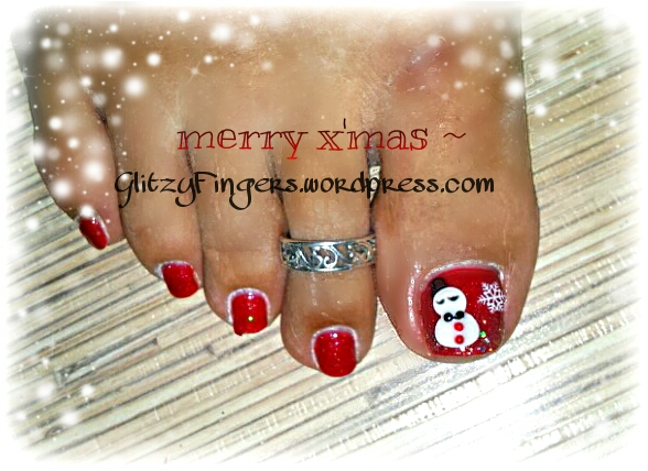 Glitzy Fingers : Christmas Nails + NailArt + santa hat + glitter + snowman + Snow flakes + Gelish + extensions +  Xmas + 3D Nails + SG Nails