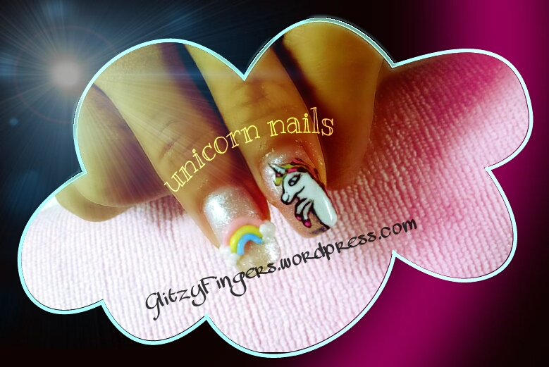 Glitzy Fingers : Christmas Nails + NailArt + angelpro gelly + glitter + colourful + unicorn + my little pony + rainbow + handdrawn + Gelish + extensions +  Xmas + 3D Nails + SG Nails