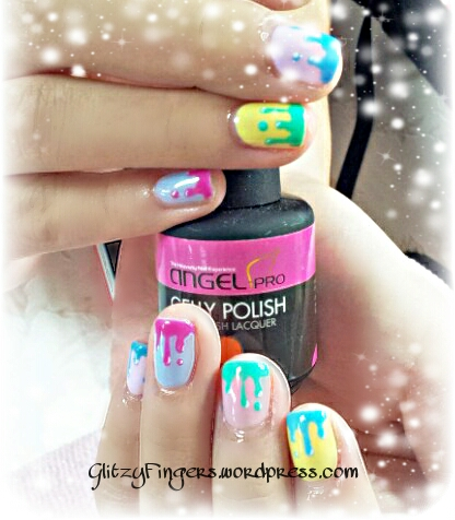 Glitzy Fingers : Christmas Nails + NailArt + angelpro gelly + glitter + colourful + Gelish + extensions +  Xmas + 3D Nails + SG Nails