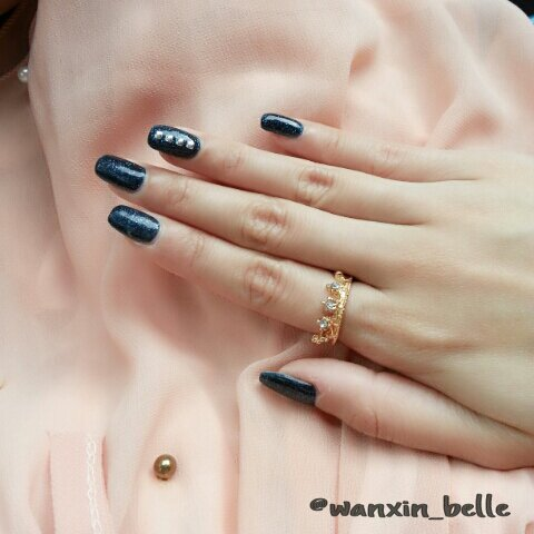 nail art + gel nails + gelish + manicure + pretty + nail designs + sg nails + singapore + studs + studded + simple