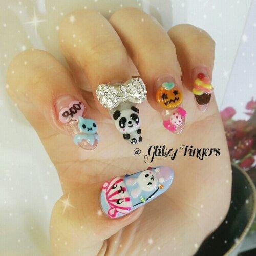 Manicure + Nail Design + Nail Art + Gelish Design + Gelish Art + Chic Nails + Girly Nails + Floral Nails + Bling Nails + Shiny Nails + Lovely Nails + Pretty Nails + Nail Designs + Nail in trend + Nail Gallery  + Studded + Hand Drawn + Hand Painted + Sg Nails
