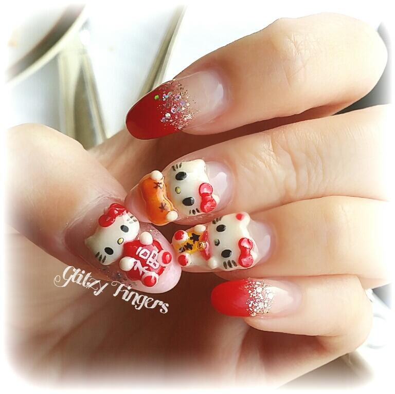 GlitzyFingers + 3D Nails + 3DNailArt + Pretty Nails + FestiveNails + AcrylicNails + NailFashion + Nail Design + Gellish Nails + Nailoftheday + SingaporeNails + RedNails + GellishNails + Nailstagram + WordPressnails