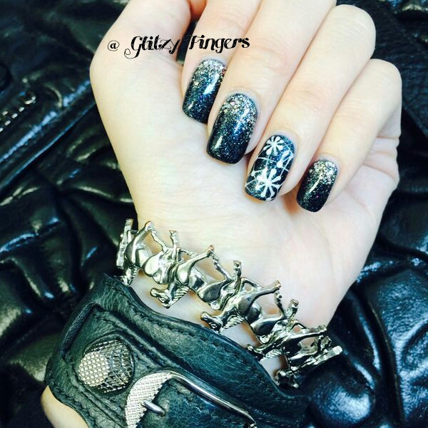 GelNails + AcrylicNails + NailArt + HandDrawn + Hand painted+ Nail Designs + Gel Designs + Sg Nails + Gelart + AcrylicNails + Prettynails + Nailoftheday + NailGasm + SgNails + Black Nail Designs + Sparkly Nails + Snowflake Nails