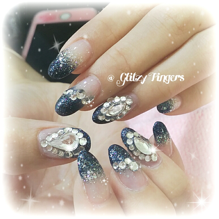 Hand painted + Nail Art + Nail Design + SgNails + Nailgasm + GelDesigns + Acrylic Designs + Nailoftheday + GelishNails  + SparklyNails + Nailartofthday + PrettyNails + Girly Nails + Nail Parlour + NailFashion + Trendy Nails