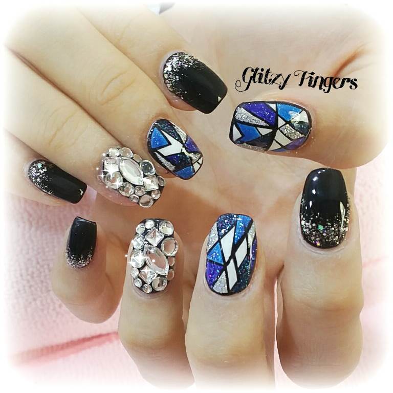 Stained Glass Nail Designs + Nail Designs + Stained Glass Nail Art + Shiny Nails + Black Nails + Mosaic Nails + Studded Nails + Sparkly Nails + Pretty Nails + Cool Nails + SgNails + Nailoftheday + Cute Nails  + trendy Nails + Nail Designs + Nail Art + HandDrawn + Hand Painted + Nailgasm