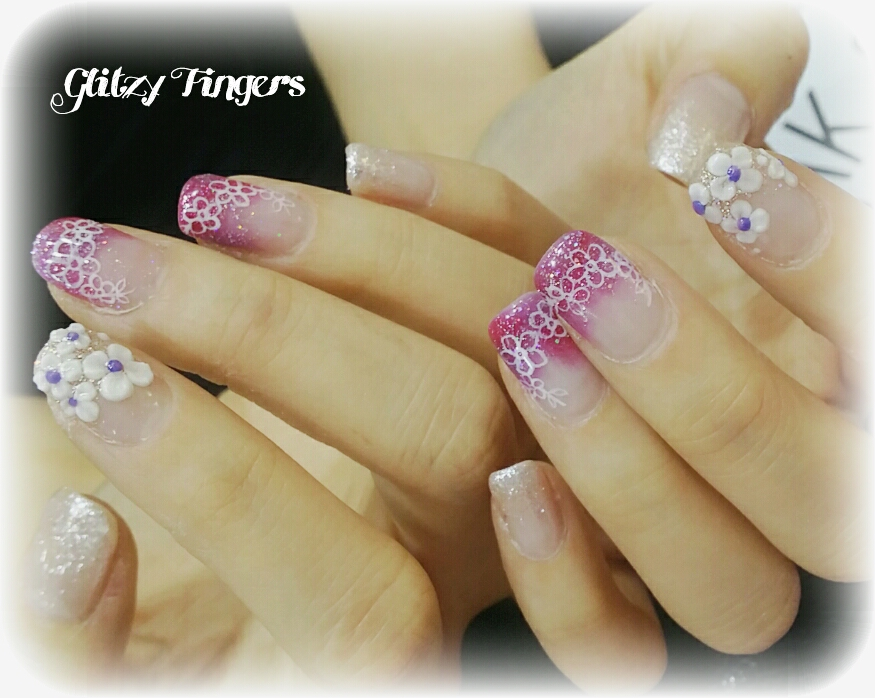 el Nails + Gel Art + Gel Design + Pink Nails + Pink Room Nails + Nail Design + Nailoftheday + Nailgasm + Nail SG + Gel Designs + My Little Pony Nail + Cute Nails + Floral Nails + Sparkly Nails + Manicure + GelMani + SGNails