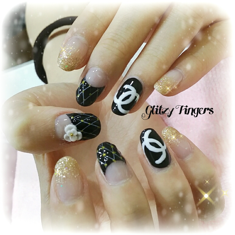 Chanel Nails + Nail Designs + Nail Art + Gel Art + Gel Designs + Pretty Nails + Shiny Nails + Angel Pro Nails + Pink Room Nails + Gel Art + Singapore Nails + Nail of the day + floral Nails + Hand Drawn Nails + Hand Painted Nails + Trendy Nails + Shiny Nails + Angel Pro Gelly + Nail Pro + Nail Artist + Manicure + Nailstagram