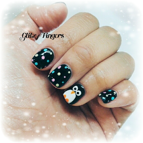 Cute Nails + Pretty Nails + Trendy Nails + Nail Art + Nail Designs + Gel Art + Gel Designs + Pretty Nails + Penguin Nails + Polka Dot Nails + Nail of the day + Nailstagram + Nailgasm + SG nails + Manicure + Gel Art + Gel designs + Hand Drawn Nails + Hand Painted + Cute Nail Art + Sg Nails