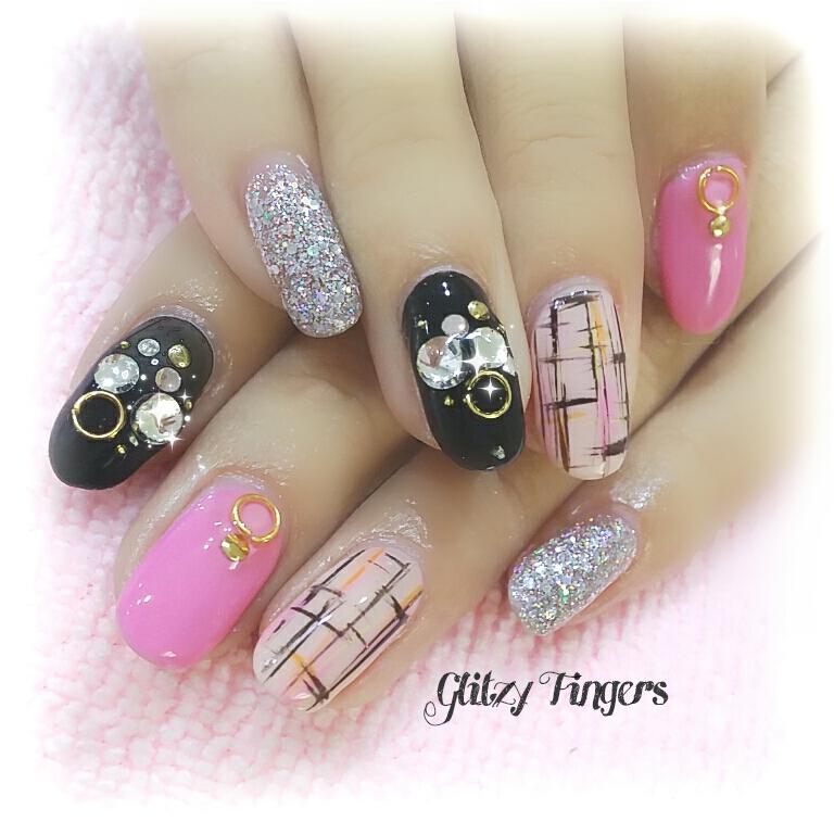 Gel polish glitzy fingers nail art nail designs sg nails pretty nails gel nails gel prinsesfo Gallery
