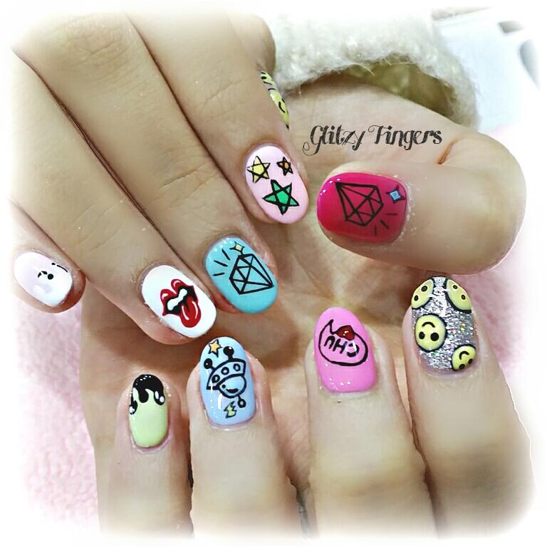 Nails + Nail Art + Nailstagram + Nail Designs + Nail Trends + Gel Art + Gel Designs + SgNails + Sgignails + WordPress Nails + Nailgasm + Singapore Nails + Nail of the day + Gelish Nails + Pretty Nails + Manicure  + Angel Pro Gelly + Pinkroom Nails + UFO Nails + Cute Nails + Colorful Nails + Diamond Nails + Girly Nails + Rolling Stone Nails + Hand Drawn Nails + Hand Painted Nails + Nailspiration + Nail Porn + Nailgasm