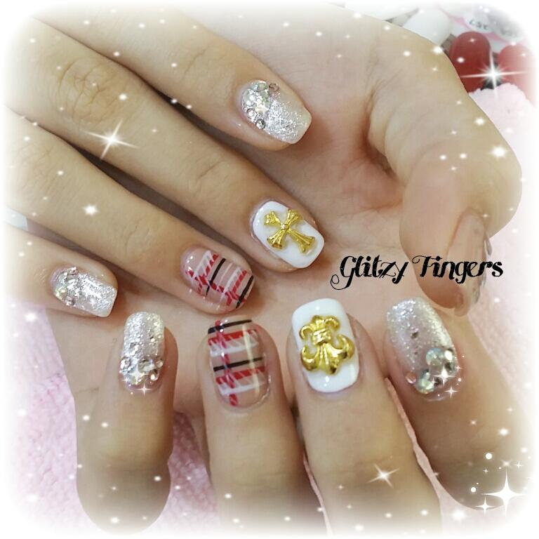 nails +   nail art + nailstagram + wordpress nails + nail designs + gel nails + pretty nails + nailgasm + nailspiration + nail inspiration + nail art of the day + nail art of the month + glitzy fingers + singapore nails + pinkroomnails + angelpronail + cute nails + manicure + angelprogelly + nail trend + trendy nails + nude nails + nail designs + party nails + studded nails + chrome hearts nail inspired + shiny nails + glitter nails + cool nails + trendy nails + nail trend of the month + checkered nails + lines nails + simplistic nails +