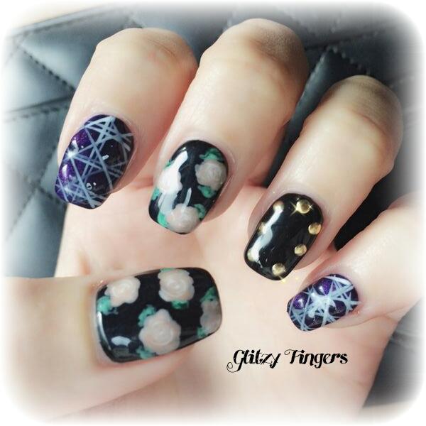 Nails + Nail Art + Nailstagram + Nail Designs + SgNails + Pretty Nails + Gel Nails + Nail Art of the day + Gelish + Gelish Nails + Nailgasm + Sgig Nails + WordPress Nails + Trendy Nails + Singapore Nails + Pinkroom Nails + Angel Pro Nail + Cool Nails + Floral Nails + Hand Drawn + Hand Painted Nails + Studded Nails + Geometric Nails + Black Theme Nails + Nailspiration + Manicure + Nail art of the month +