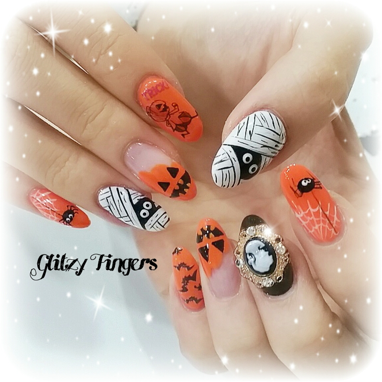 ails + nailart + nailstagram + naildesigns + sgnails + prettynails + gelnails + nailartoftheday + gelish + gelishnails + nailgasm + sgignails + singaporenails + pinkroomnails + angelpronail + cutenails + manicure + angelprogelly + sgig + nailfashion + nailartist + potd + Halloween Nails + Halloween Festival + Festival Nails + Trick or treat nails + Zombie Nails + Gothic Nails + Nailspiration + Trendy Nails + Spooky Nails + Cool nail of the month +