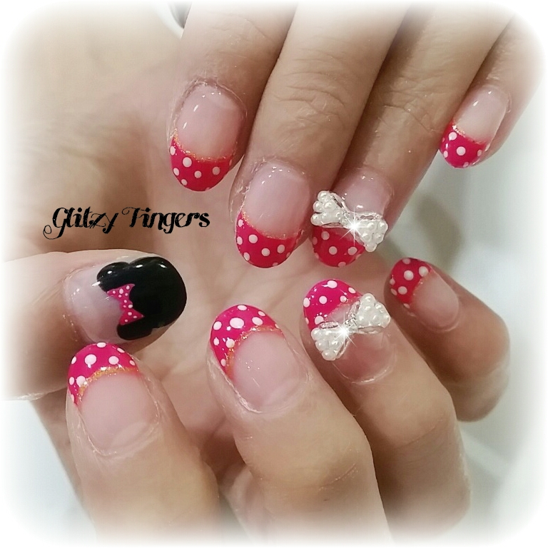 nails + nailart + nailstagram + wordpress nails + nail designs + sg nails + pretty nails + gel nails + nail art of the day + nail art of the month + Nail designs 2015 + gelish + gelish nails + nailgasm + sgignails + singapore nails + pinkroomnails + angelpronail + cute nails + manicure + nail artist + potd + trendy nails + nail trend of the month + cartoon nails + minnie nails + Disney nails + Pop out nails + Studded nails + Polkadot nails + Cute nails + Cool Nails + Party Nails + Round nails + Mickey and Minnie nails + Glitzy Fingers Nails +