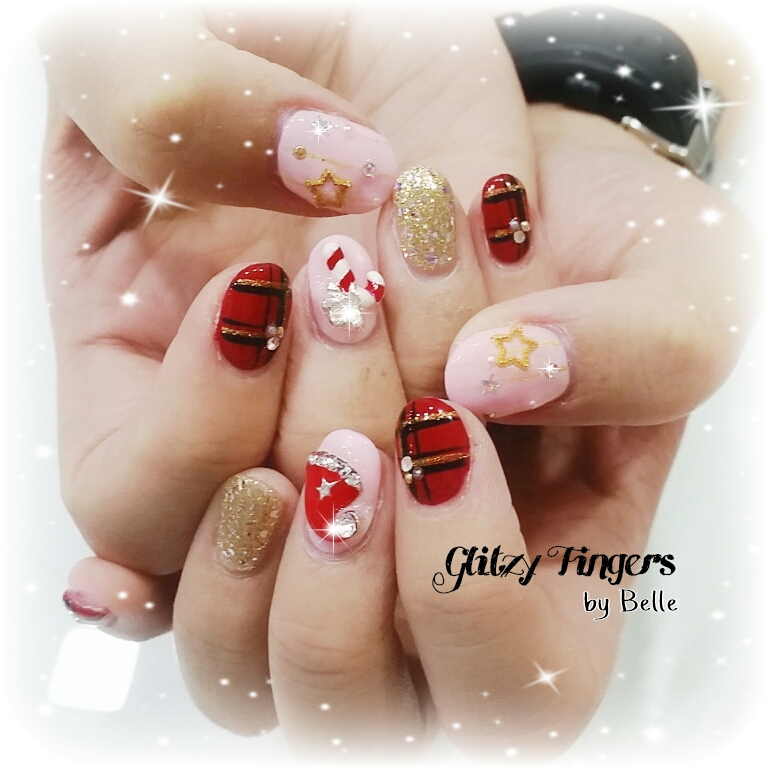 nail art + nails + festive nails + nail of the day + nail of the month + wordpress nails + Christmas nails + Singapore Nails + Sgnails + Sgignails + Pinkroom nails + Gel Nails + Gel Designs + Angelpro nails + gel manicure + manicure + Seasons nails + Holiday nails + Nailgasm + Nailspiration + Trendy Nails + Santa Clause nails + hand Drawn + Hand Painted + Lines Nails + Simple Nails + Pretty Nails + Cute Nails + Shiny Nails + Gold Nails + theme Nails + Studded Nails