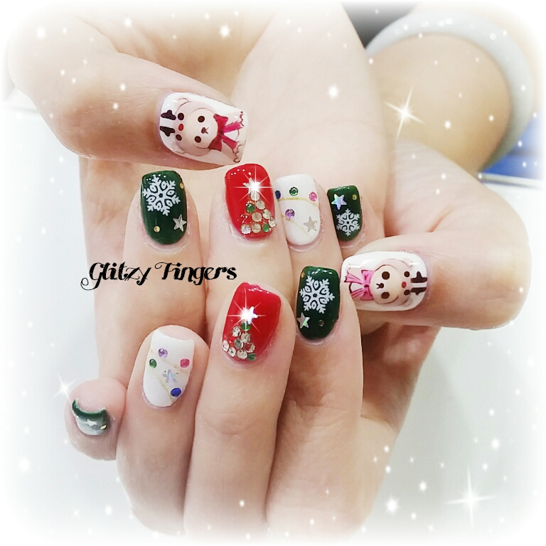 nail art + nails + festive nails + nail of the day + nail of the month + wordpress nails + Christmas nails + Singapore Nails + Sgnails + Sgignails + Pinkroom nails + Gel Nails + Gel Designs + Angelpro nails + gel manicure + manicure + Seasons nails + Holiday nails + Nailgasm + Nailspiration + Trendy Nails + Santa Clause nails + hand Drawn + Hand Painted  + Reindeer Nails + Cute Nails + Pretty Nails + Snow flakes + Nail trend 2014