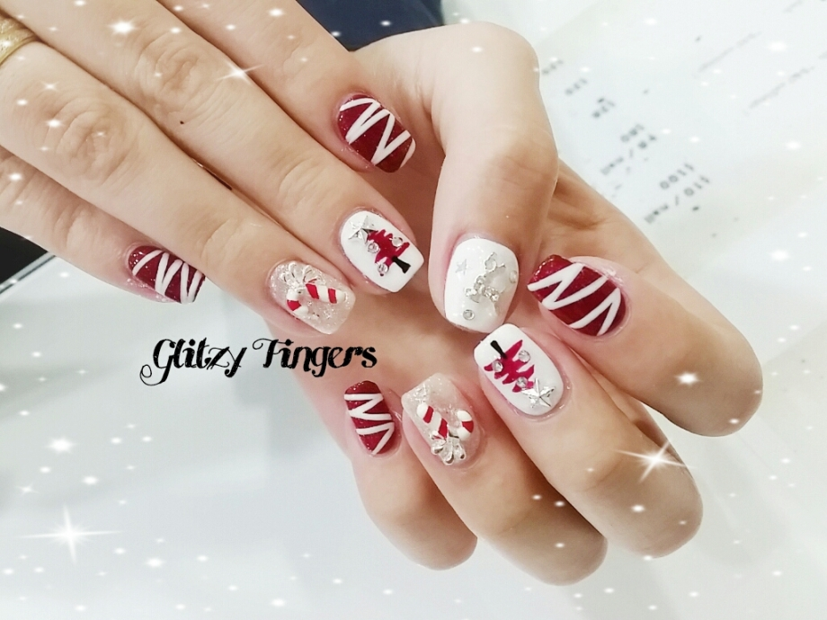 nail art + nails + festive nails + nail of the day + nail of the month + wordpress nails + Christmas nails + Singapore Nails + Sgnails + Sgignails + Pinkroom nails + Gel Nails + Gel Designs + Angelpro nails + gel manicure + manicure + Seasons nails + Holiday nails + Nailgasm + Nailspiration + Trendy Nails + Santa Clause nails + hand Drawn + Hand Painted  + Christmas Tree + Simplicity + Candy cane nails + Cute nails + party Nails + Studded Nails + Shiny Nails + Pretty Nails +