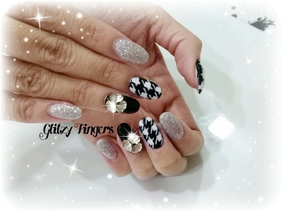 nails + nailart + nailstagram + wordpress nails + nail designs + sg nails + pretty nails + gel nails + nail art of the day + nail art of the month + Nail designs 2015 + gelish + gelish nails + nailgasm + sgignails + singapore nails + pinkroomnails + angelpronail + cute nails + manicure + nail artist + potd + trendy nails + nail trend of the month + Houndstooth nails + Shiny Nails + Abstract Nails + Nail Abstract Designs + Studded Nails + Shiny Nails + Themed Nails + Black and White Nails + Black and White Nail Designs + Glitzy Fingers Nails +