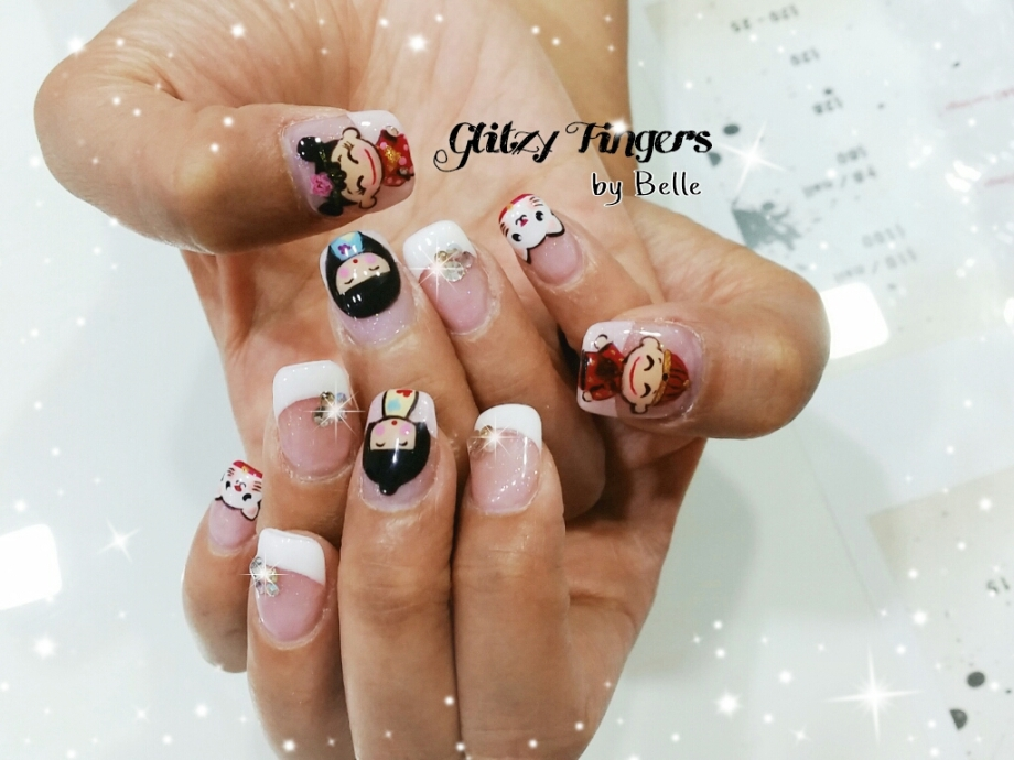 nails + nailart + nailstagram + wordpress nails + nail designs + sg nails + pretty nails + gel nails + nail art of the day + nail art of the month + Nail designs 2015 + gelish + gelish nails + nailgasm + sgignails + singapore nails + pinkroomnails + angelpronail + cute nails + manicure + nail artist + potd + trendy nails + nail trend of the month + Cartoon Nails + Cute Nails + Couple Nails + Cat Nails + Shiny Nails + Hand Drawn Nails + Hand Painted Nails + Glitzy Fingers Nails + Girl and Boy Nails + Lovely Nails +