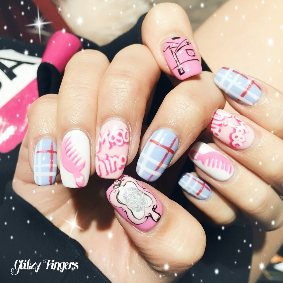 nails + nailart + nailstagram + wordpress nails + nail designs + sg nails + pretty nails + gel nails + nail art of the day + nail art of the month + Nail designs 2015 + gelish + gelish nails + nailgasm + sgignails + singapore nails + pinkroomnails + angelpronail + cute nails + manicure + nail artist + potd + trendy nails + nail trend of the month + Luxury Nails + Abstract Nails + Inspired Nails + Moschino inspired nails + Hand drawn + hand painted + pink moschino + pattern nails + chic nails + minimalist nails + pink nails + event nails + party nails + Gel Art + Glitzy Fingers Nails
