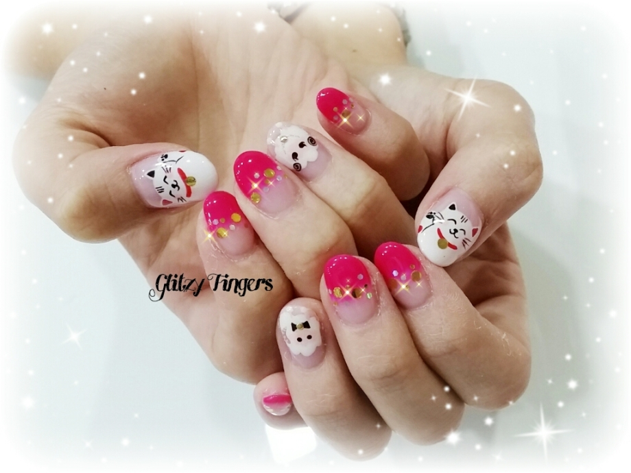 nails + nail art + nailstagram + nail designs + sg nails + sgignails + pretty nails + gelish nails + gel nails + nail art of the day + nail art of the month + festive nails + singapore nails + nailgasm + angelpronail + cute nails + nail artist + manicure + Singapore Manicure + potd + Fortune Cat Nails + Nail Designs 2015 + Hand Drawn + Hand Painted Nails + Red Nails + CNY Nails 2015 + CNy Nail Art + Festive Nails + Singapore Nails + Singapore Manicure