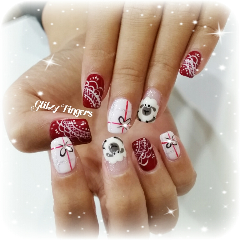 nails + nail art + nailstagram + nail designs + sg nails + sgignails + pretty nails + gelish nails + gel nails + nail art of the day + nail art of the month + festive nails + singapore nails + nailgasm + angelpronail + cute nails + nail artist + manicure + Singapore Manicure + potd + Lace Nails + Cute Nails + Red Theme Nails + Hand Drawn + Hand Painted Nails + CNY Nails + CNY 2015 + Goat Nails + Singapore Nails + Tiffany and Co Inspired + Nailspiration +