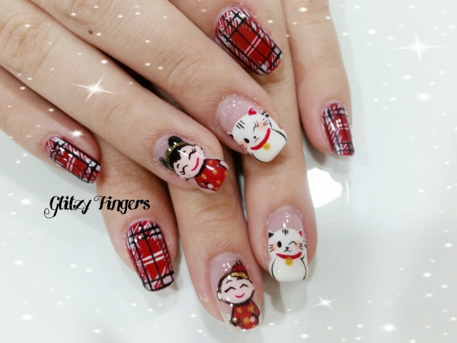nails + nail art + nailstagram + nail designs + sg nails + sgignails + pretty nails + gelish nails + gel nails + nail art of the day + nail art of the month + festive nails + singapore nails + nailgasm + angelpronail + cute nails + nail artist + manicure + Singapore Manicure + potd + Plaid Nails + Flannel Nails + Checkered Nails + Red Nails + Red Theme Nails + Hand Drawn + Hand Painted Nails + Fortune Cat Nails + Chinese New Year Nails + trendy Nails +