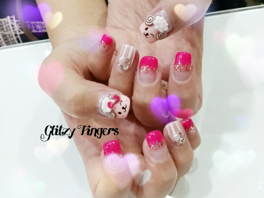 nails + nail art + nailstagram + nail designs + sg nails + sgignails + pretty nails + gelish nails + gel nails + nail art of the day + nail art of the month + festive nails + singapore nails + nailgasm + angelpronail + cute nails + nail artist + manicure + Singapore Manicure + potd + 3D Nail Art + Pop Out nails + Hand Drawn + Hand Painted + Sheep Nails + Goat Nails + CNY 2015 + CNY Nail Art + CNY Nail Designs + Studded Nails + Trendy Nails +