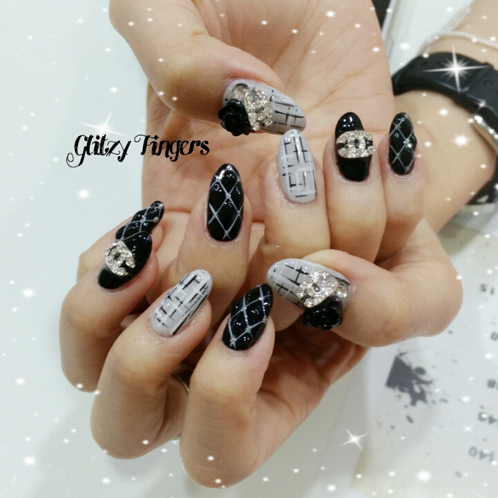 Nails + Nail Art + Nailstagram + Nail Designs + Sg Nails + Pretty Nails + Gel Nails + Nail Art of the Day + Nail Art of the Month + Gelish + Gelish Nails + Nailgasm + Sgig Nails + WordPress Nails + Singapore Nails + Pinkroom Nails + Angel Pro Nail + Cute Nails + Manicure + Angelprogelly + Party Nails + Sgig + Nail Fashion + Nail Artist + POTD + Simplistic Nails + Minimalist Nails + Criss Cross Nails + Quilted Nails + Chanel Inspired Nails + Studded + Hand Drawn + Hand Painted + Black and White Nails + Grey Nails + Nail inspiration + Cool Nails + Event Nails +