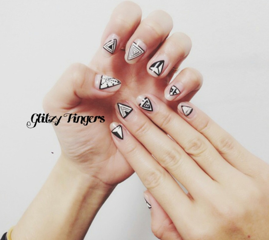 nails + nailart + nailstagram + naildesigns + sgnails + prettynails + gelnails + nailartoftheday + gelish + gelishnails + nailgasm + sgignails + singaporenails + pinkroomnails + angelpronail + cutenails + manicure + angelprogelly + sgig + nailfashion + nailartist + potd + geometric nails + nude nails + simple nails + triangle nails + nail shapes + pretty nails + minimalist nails + black and white nails + nail trend + trendy nails + nail inspiration + nailspiration + nail trend of the month